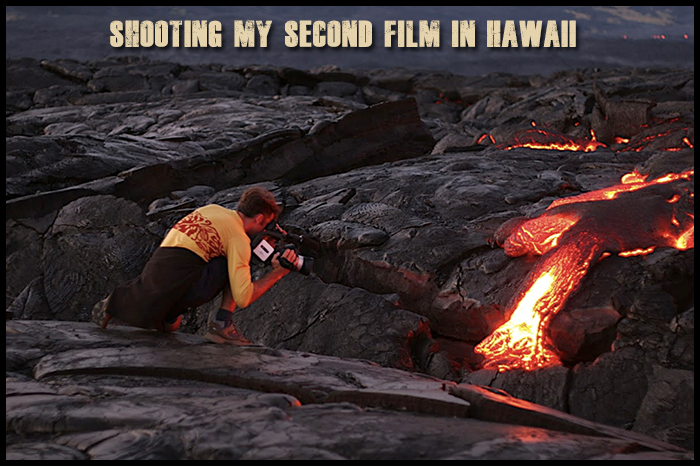 Filming-hawaiian-lava-flows