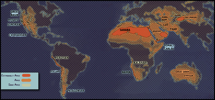 deserts-of-the-world-map - Untamed Science