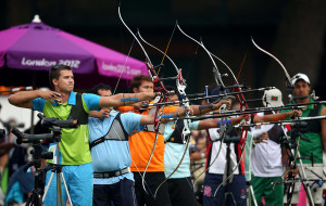 Olympic archers use recurve bows