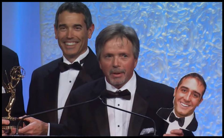 Rob nelson on Stick Emmy Award