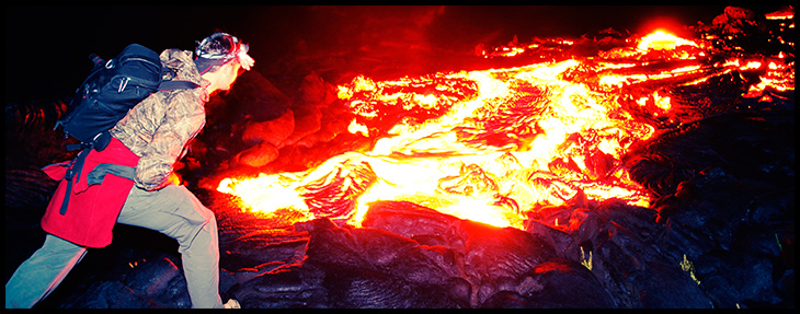 hiking to the lava - Rob Nelson