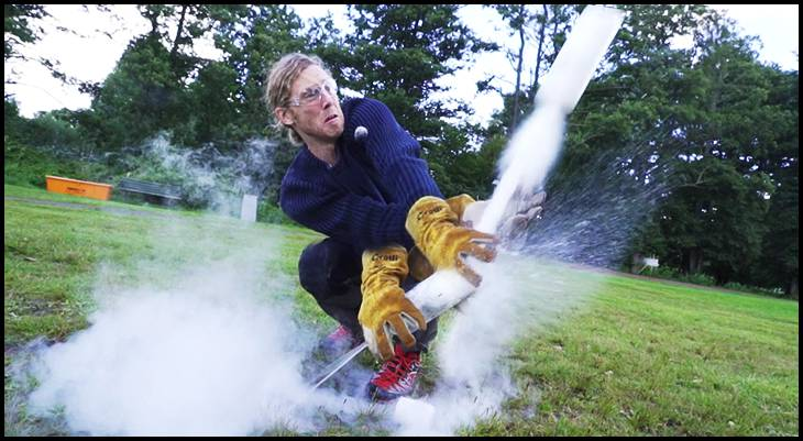 Bottle Rocket liquid nitrogen experiment